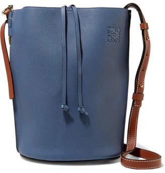 Loewe Gate Textured-leather Bucket Bag - Storm blue