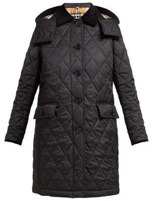 Burberry Dereham Diamond Quilted Jacket - Womens - Black