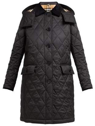 2ec9599105 Burberry Dereham Diamond Quilted Jacket - Womens - Black