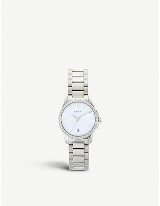 589c8926817 Gucci YA126543 Mother of Pearl G Timeless watch