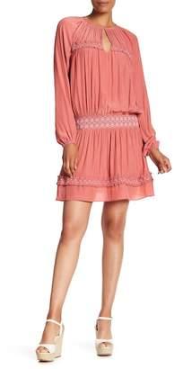 Ramy Brook Ailis Embroidered Smocked Dress