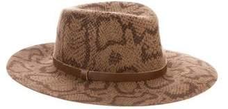 Eric Javits Animal Print Wool Hat