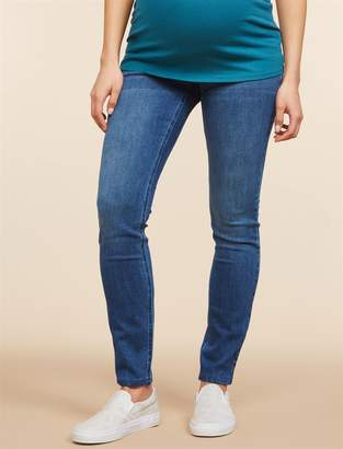 Motherhood Maternity Indigo Blue Secret Fit Belly Tall Super Stretch Skinny Maternity Jeans