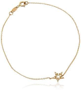 Diamonds & You Bracelet Necklace Yellow Gold 18 cts Vendôme Diamond 0.12 cts 18 cm-AM- now STAR 012 J plZzrhe5Ju
