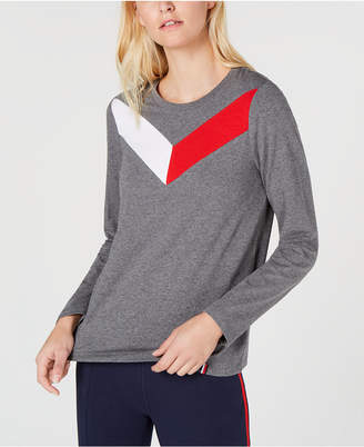Tommy Hilfiger Colorblocked Crew-Neck Top