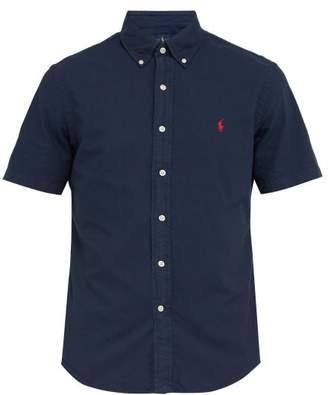 Polo Ralph Lauren Logo Embroidered Button Down Shirt - Mens - Navy