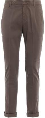 Dondup Gaubert Dark Beige Cotton Chino Trousers