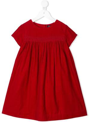Ralph Lauren Kids pleated corduroy dress