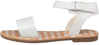 Board Angels Girls Ankle Strap Sandals White