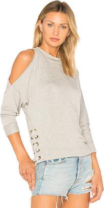 Ella Moss Cold Shoulder Sweatshirt in Gray $158 thestylecure.com