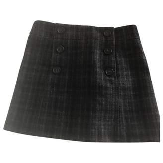 Comptoir des Cotonniers Green Wool Skirt for Women
