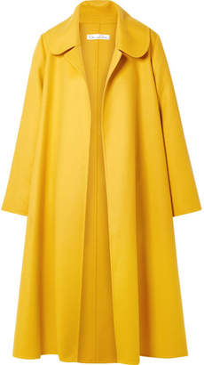 Oscar de la Renta Oversized Wool And Cashmere-blend Coat - Marigold