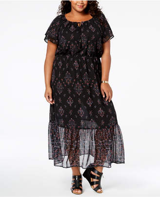 Style&Co. Style & Co Plus Size Printed Maxi Dress
