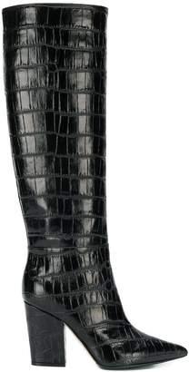 Sergio Rossi crocodile effect boots