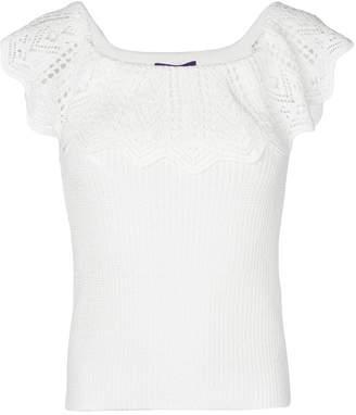 Ralph Lauren crochet off shoulder top