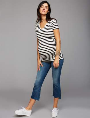 Pea Collection MOTHER Secret Fit Belly Insider Crop Step Fray Maternity Jeans- Not Rough Enough
