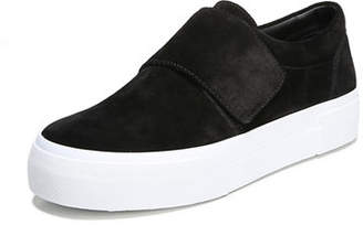 Vince Cage Suede Grip-Strap Platform Sneaker
