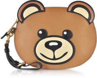 5276212476fe Moschino Teddy Bear Leather Pouch