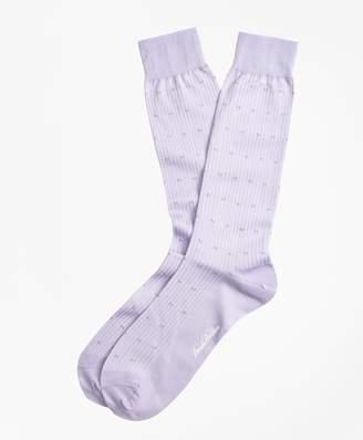 Brooks Brothers Stripe Dot Crew Socks