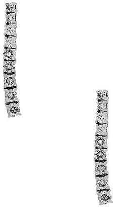 One Kings Lane Vintage 14k Gold & Diamond Dangle Earrings