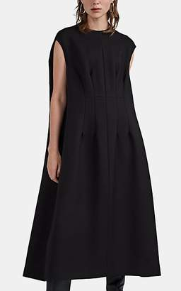 The Row Women's Isandra Wool-Silk Cape Dress - Black
