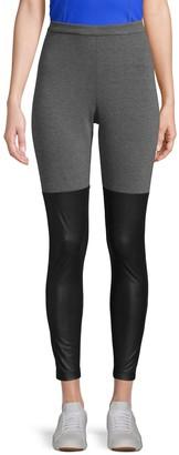 BCBGMAXAZRIA Colorblock Stretch Leggings