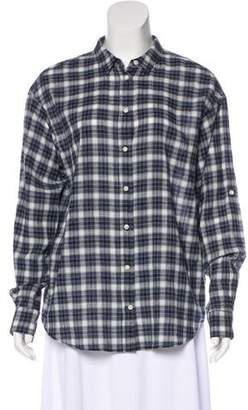 Closed Plaid Flannel Top