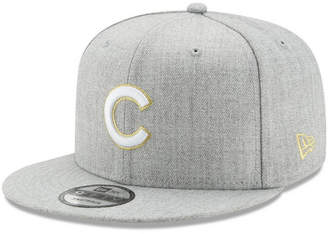 New Era Chicago Cubs Heather Metallic Patch 9FIFTY Snapback Cap