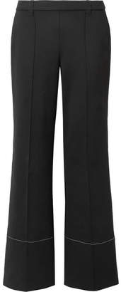 The Row Alisei Stretch-neoprene Wide-leg Pants - Black