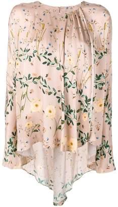AILANTO leaf print blouse