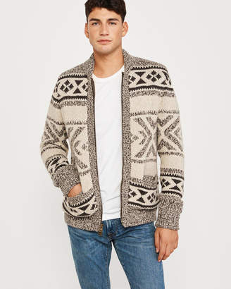 Abercrombie & Fitch Heritage Sherpa Full-Zip Cardigan