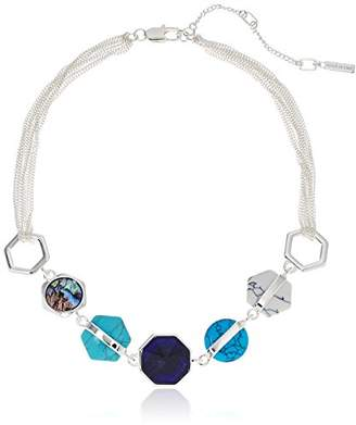 Kenneth Cole New York Mixed Geometric Semiprecious Stone Necklace