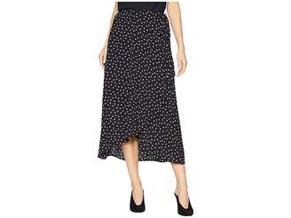Bobeau Wrap Skirt Bubble Crepe Women's Skirt