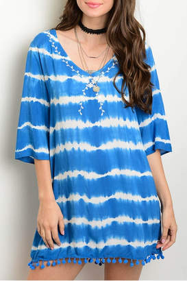 Honeybelle honey belle Blue Tie Dye Dress