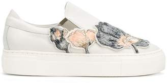 AGL sequin floral appliquéd sneakers