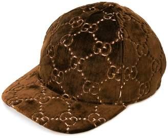 Gucci GG motif velvet cap