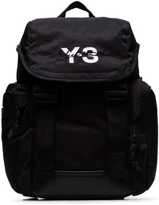 ab00b6d0e3bc Y-3 black Mobility logo print backpack