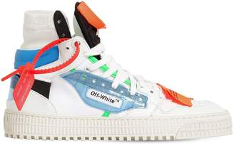 Off-White 20mm Off-Court Leather & Plexi Sneakers