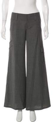 Alice + Olivia Mid-Rise Wide-Leg Pants w/ Tags