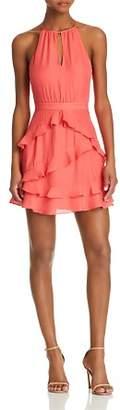 Parker Pixie Ruffle-Trim Dress