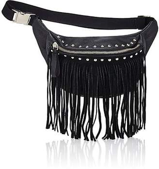 Little Remix Fringe Belt Bag - Black