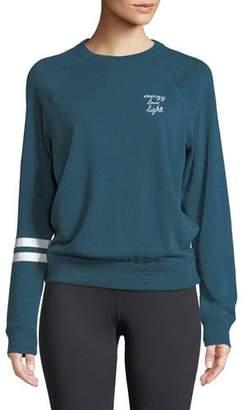 Spiritual Gangster Ell Crewneck Old School Pullover Sweatshirt with Stripes