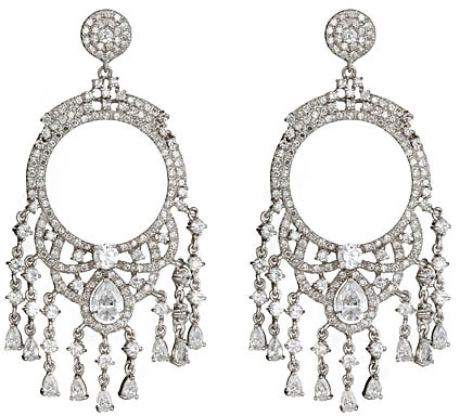 Genevive by CZC Opulent Chandelier Earrings