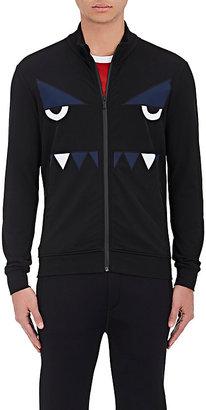 Fendi Men's Monster Eyes Jersey Track Jacket $670 thestylecure.com