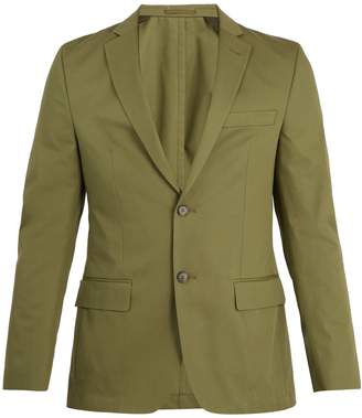 Officine Generale Single-breasted notch-lapel cotton-twill blazer