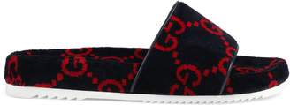 Gucci Men's GG terry cloth slide sandal