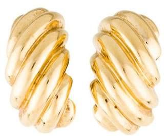 14K Scalloped Earrings