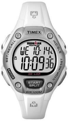 Timex Women's Timex Ironman® Classic 30 Lap Digital Watch - White T5K515JT $37.49 thestylecure.com