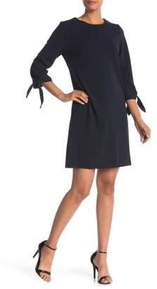 Ronni Nicole Tie 3\u002F4 Sleeve Woven Dress