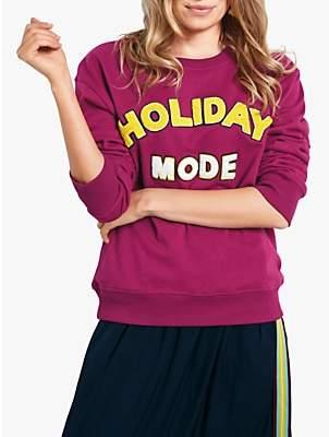 862e8e5f61b Hush Holiday Mode Long Sleeve Sweat Top, Burgundy/Multi